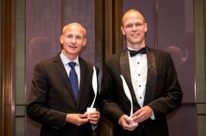 Last years winners Peter N. Rasmussen (Asia Base) and Jens Purup (Access People). Photo: dcc.hk