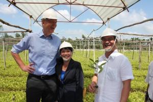 Danish Ambassador John Nielsen visiting the project. Photo: Danish Embassy in Vietnam