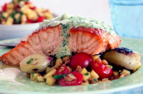 Salmon-Grilled-dish