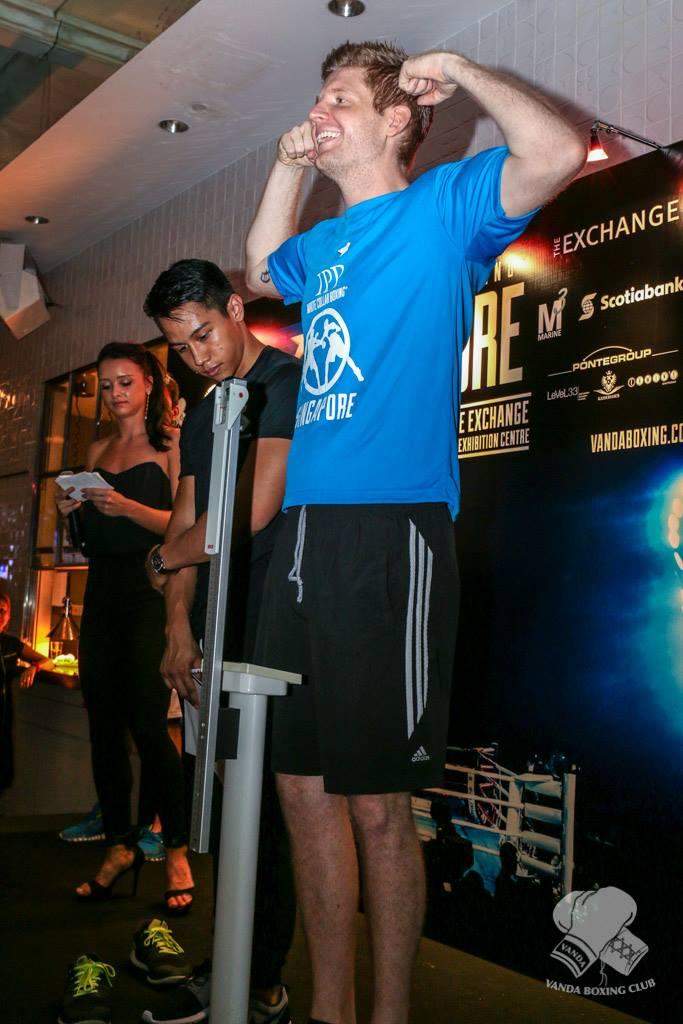 Lars Skov Christens weigh-in. Photo: Vanda Boxing Club Facebook