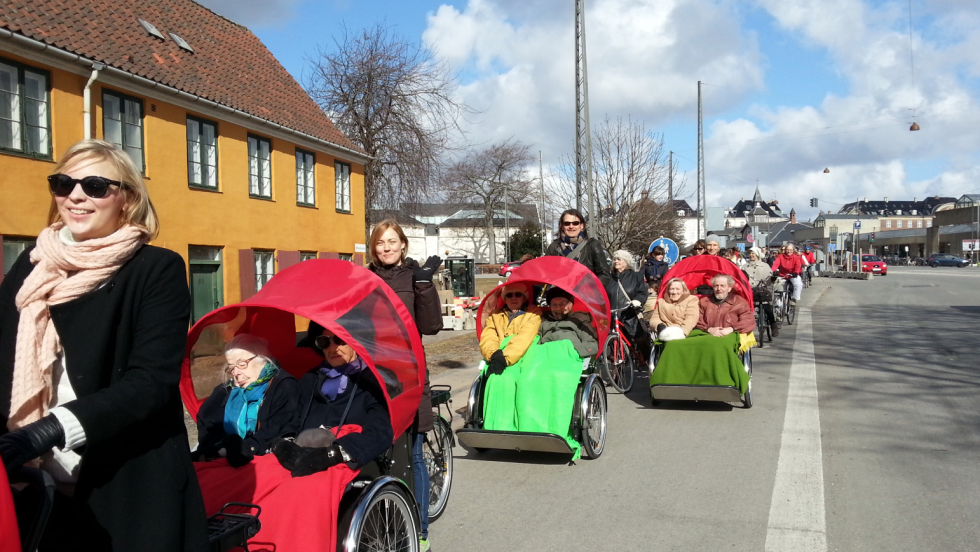 Cycling Without Age started in Denmark with only five bikes