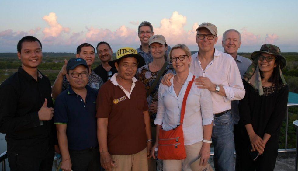 Swedish representatives visited Trat mangrove forest restoration